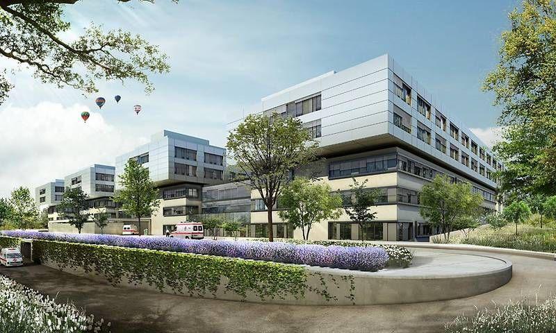 Prof. - Uwe Martens - SLK-Kliniken Heilbronn GmbH – Klinikum am Gesundbrunnen  Tumorzentrum Heilbronn-Franken - Außenansicht
